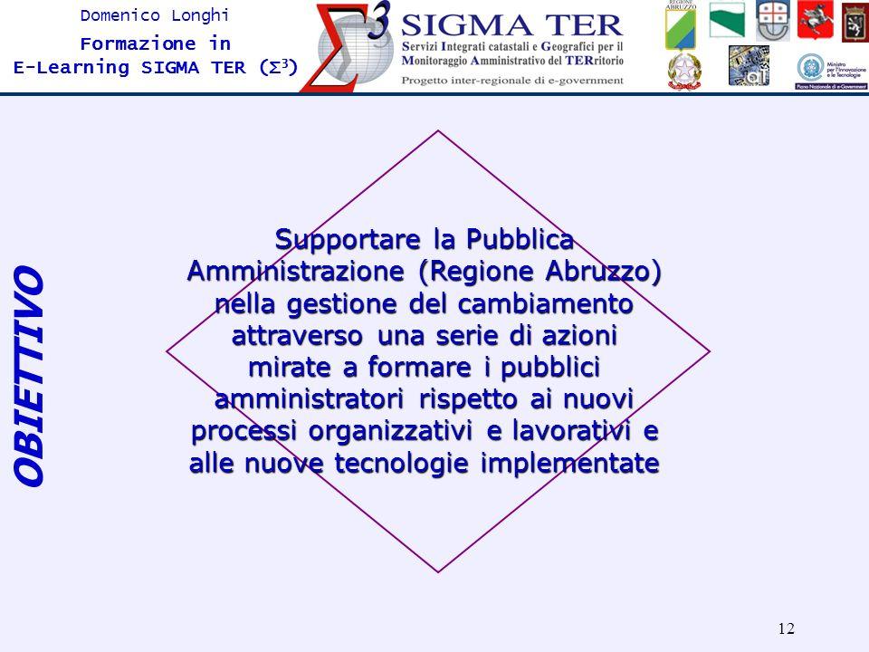 Supportare la Pubblica Amministrazione (Regione Abruzzo) nella gestione del cambiamento attraverso una serie di azioni mirate a formare i pubblici amministratori rispetto ai nuovi processi organizzativi e lavorativi e alle nuove tecnologie implementate