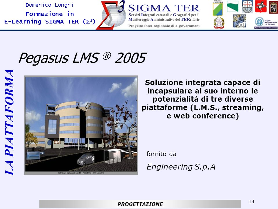 Pegasus LMS ® 2005 LA PIATTAFORMA Engineering S.p.A