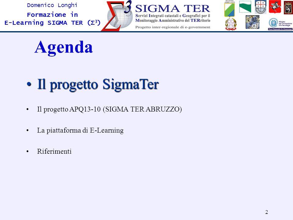 Agenda Il progetto SigmaTer Il progetto APQ13-10 (SIGMA TER ABRUZZO)