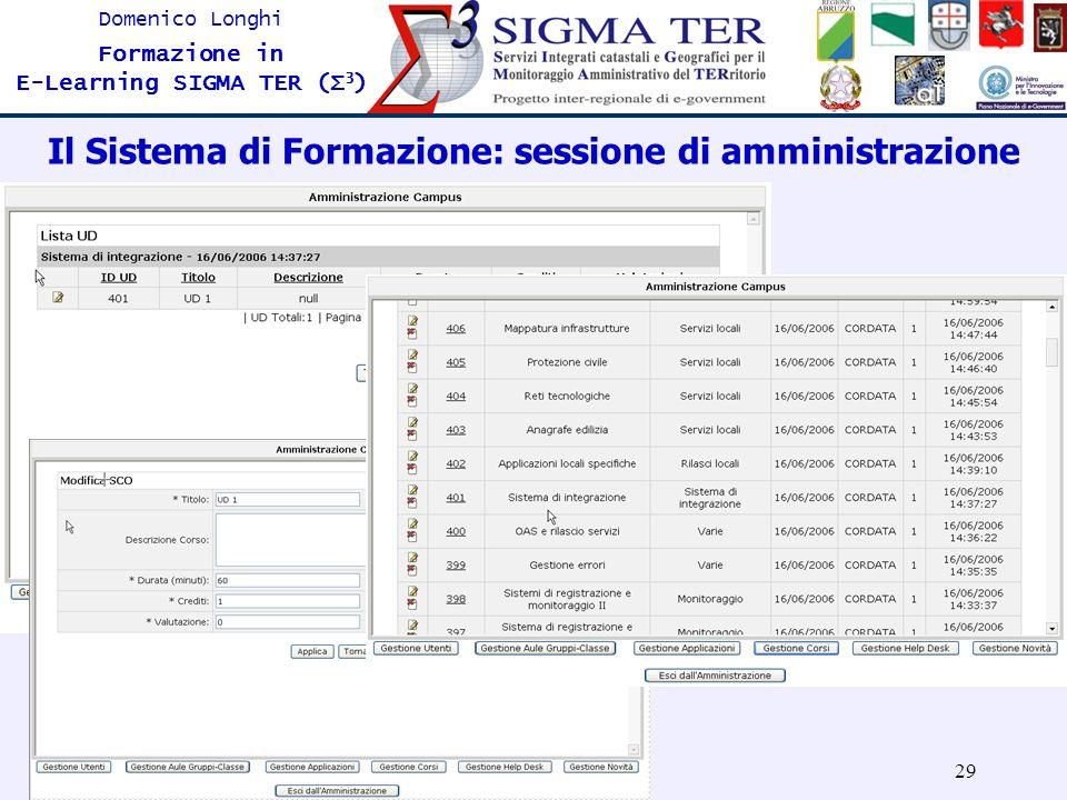 Il Sistema di Formazione: sessione di amministrazione
