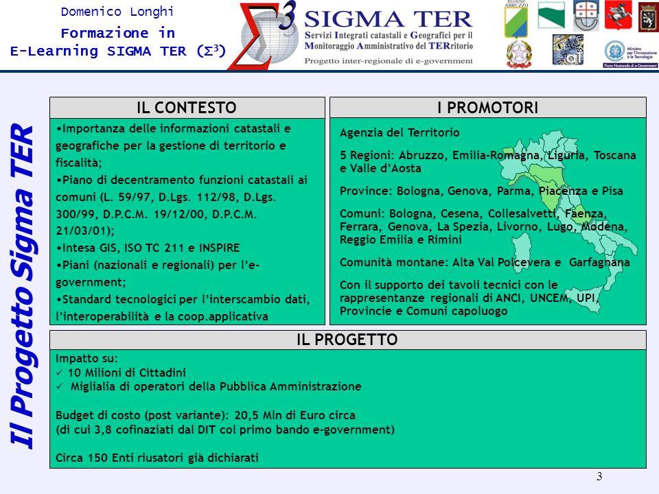 Il Progetto Sigma TER IL CONTESTO I PROMOTORI IL PROGETTO