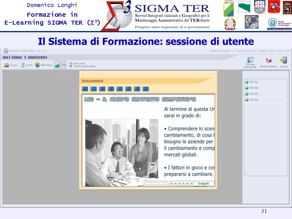Il Sistema di Formazione: sessione di utente