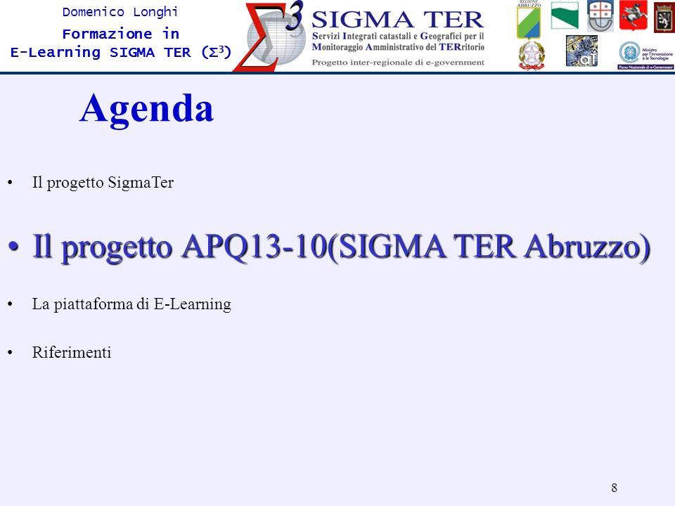 Agenda Il progetto APQ13-10(SIGMA TER Abruzzo) Il progetto SigmaTer