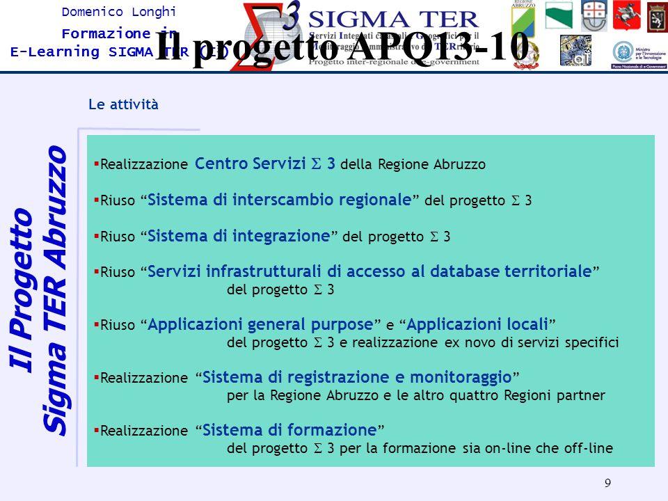 Il Progetto Sigma TER Abruzzo