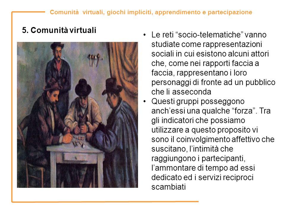 5. Comunità virtuali