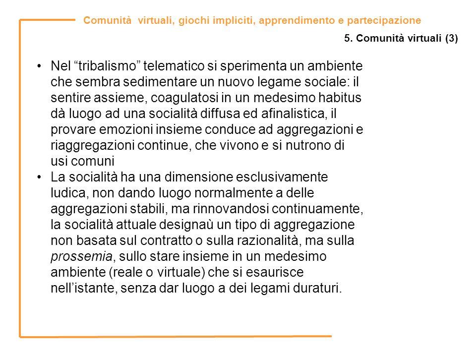 5. Comunità virtuali (3)