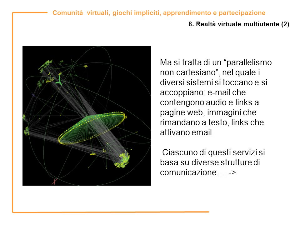 8. Realtà virtuale multiutente (2)