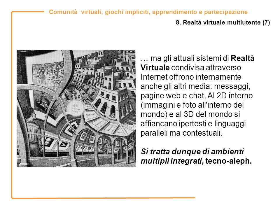 Si tratta dunque di ambienti multipli integrati, tecno-aleph.