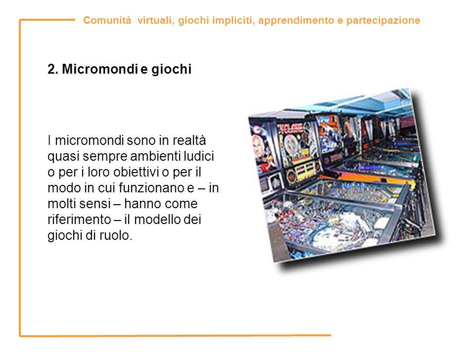 2. Micromondi e giochi