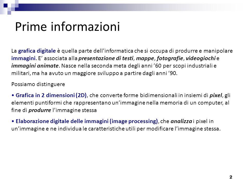 Prime informazioni
