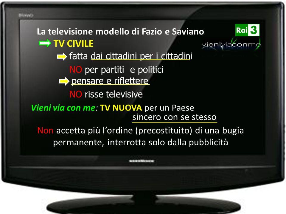 Vieni via con me: TV NUOVA per un Paese