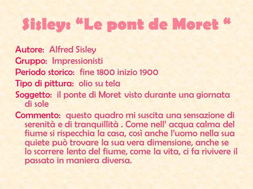 Sisley: Le pont de Moret