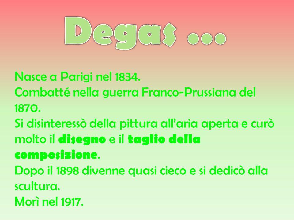 Degas … Nasce a Parigi nel 1834.