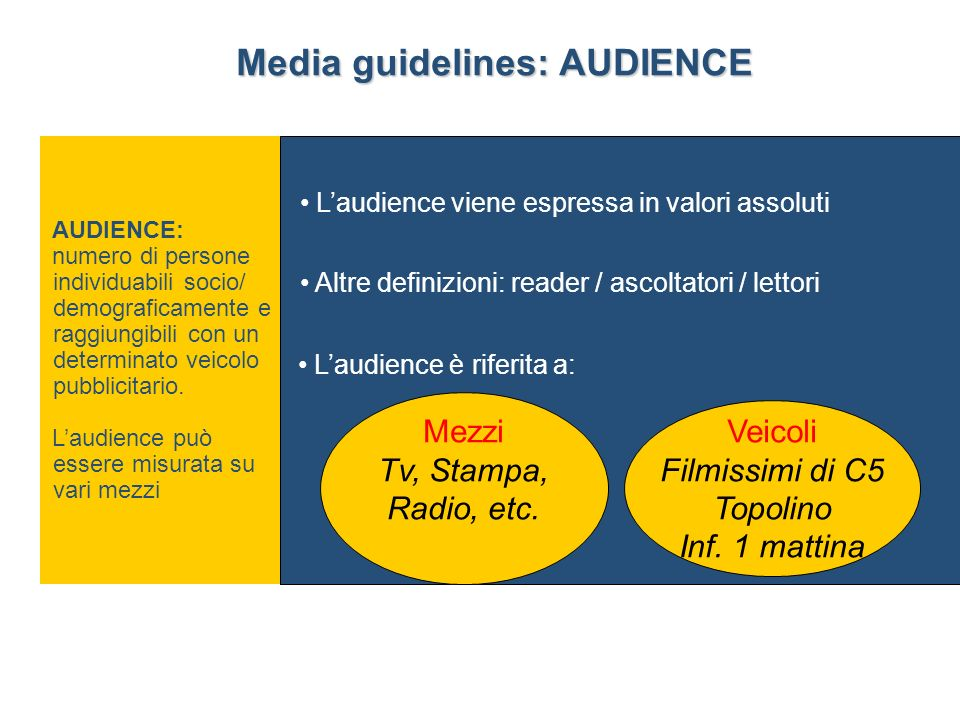 Media guidelines: AUDIENCE