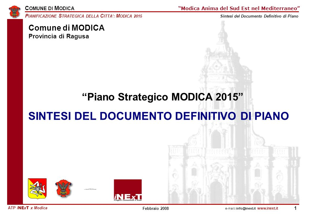 Piano Strategico MODICA 2015