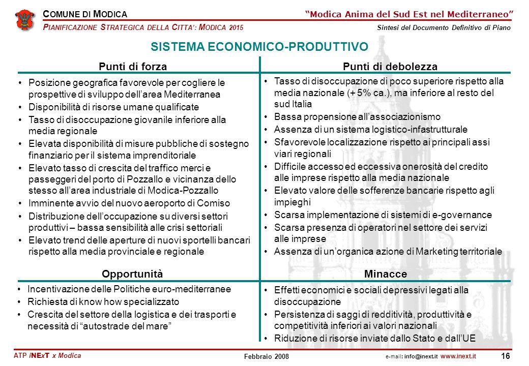 SISTEMA ECONOMICO-PRODUTTIVO