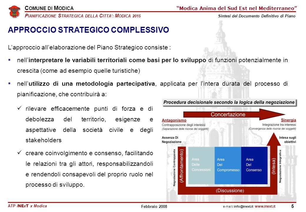 APPROCCIO STRATEGICO COMPLESSIVO
