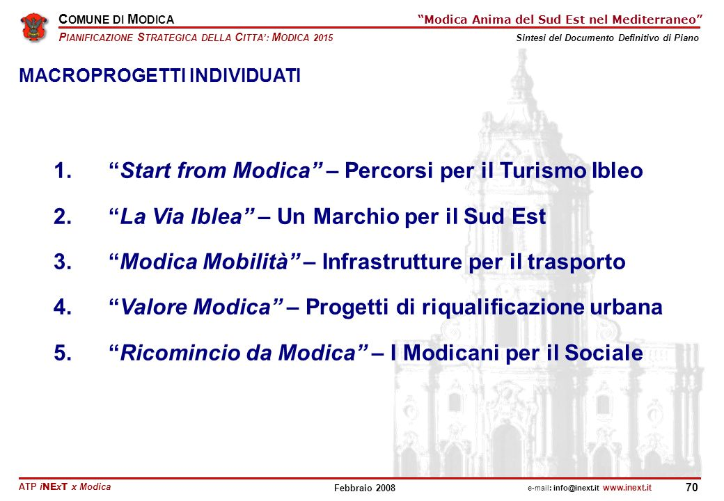 1. Start from Modica – Percorsi per il Turismo Ibleo