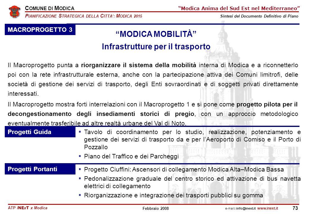 MODICA MOBILITÀ Infrastrutture per il trasporto