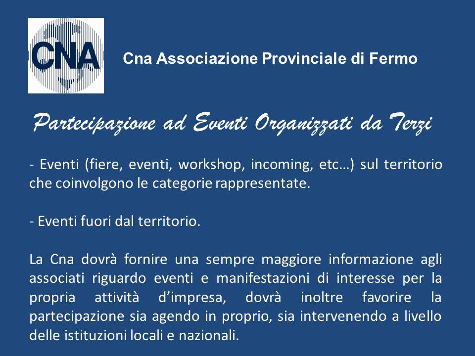 Partecipazione ad Eventi Organizzati da Terzi