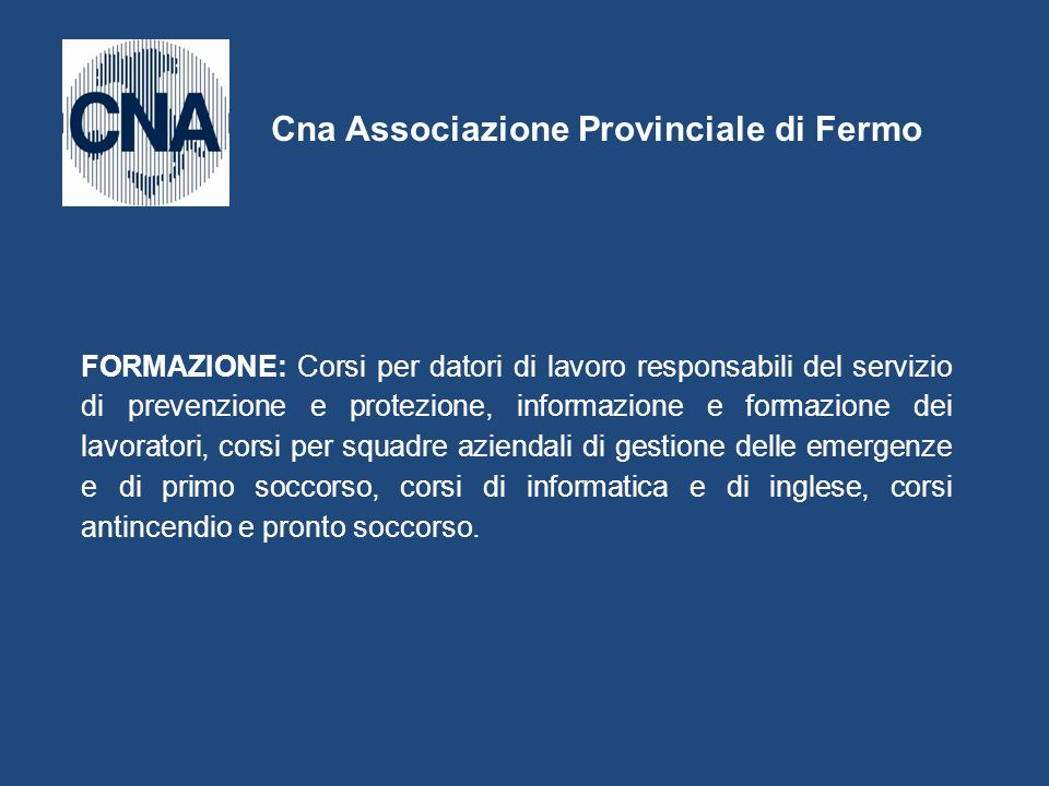 Cna Associazione Provinciale di Fermo