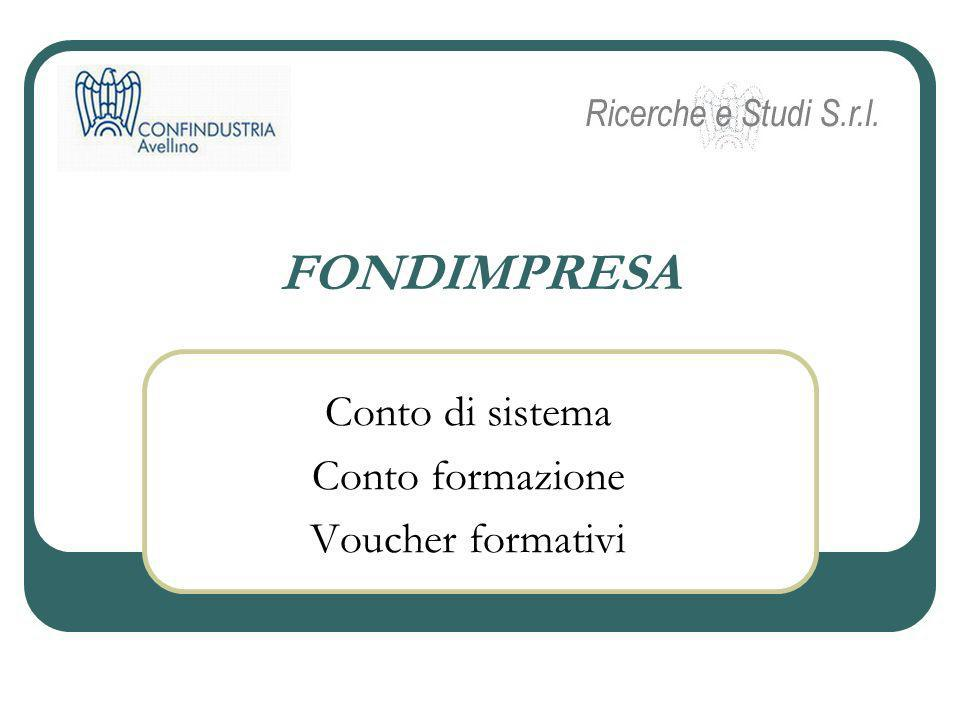 Conto di sistema Conto formazione Voucher formativi