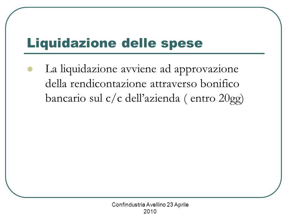 Liquidazione delle spese