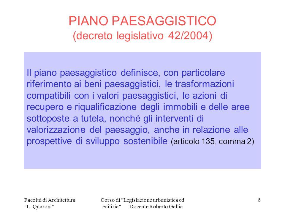 PIANO PAESAGGISTICO (decreto legislativo 42/2004)