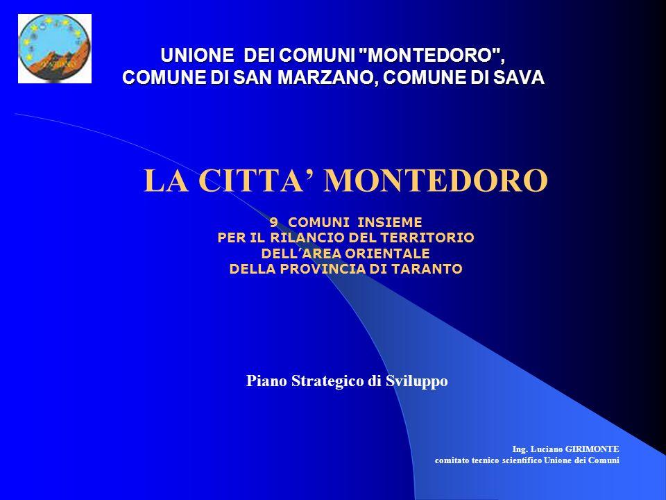 UNIONE DEI COMUNI MONTEDORO , COMUNE DI SAN MARZANO, COMUNE DI SAVA