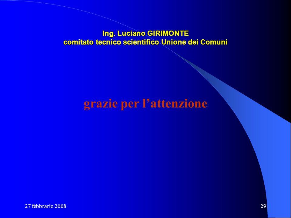 Ing. Luciano GIRIMONTE comitato tecnico scientifico Unione dei Comuni