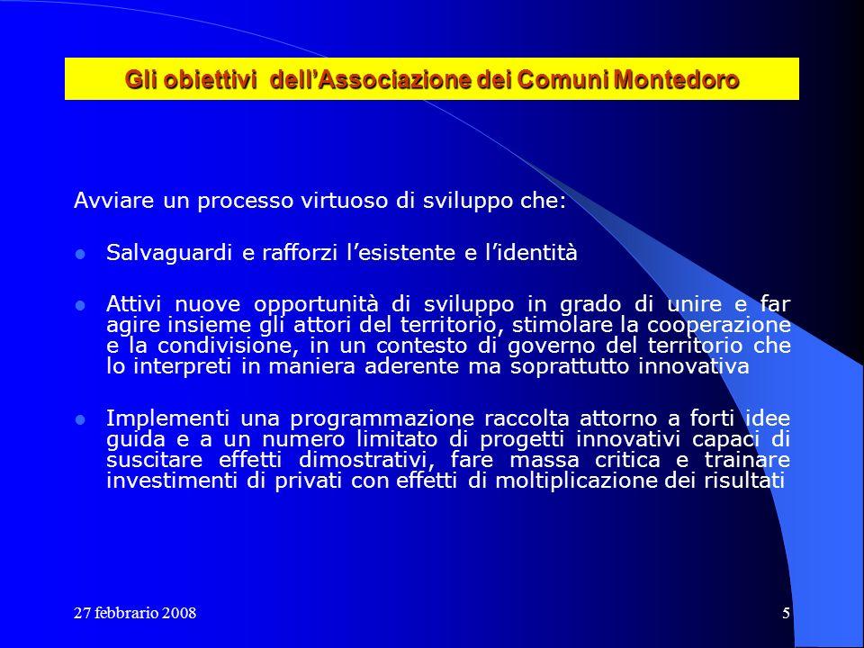 Gli obiettivi dell'Associazione dei Comuni Montedoro