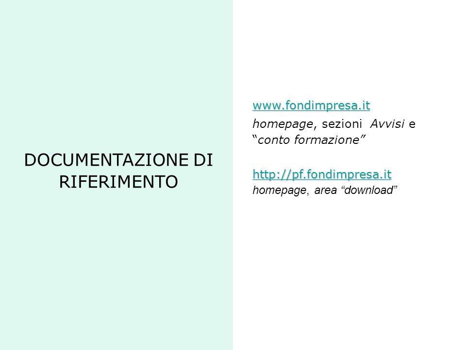 DOCUMENTAZIONE DI RIFERIMENTO