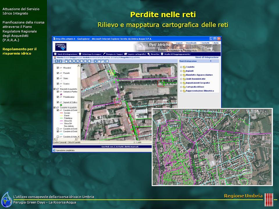 Rilievo e mappatura cartografica delle reti