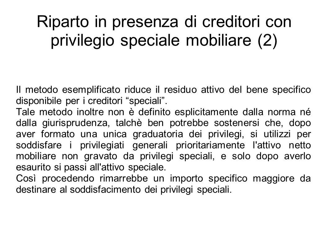 Riparto in presenza di creditori con privilegio speciale mobiliare (2)