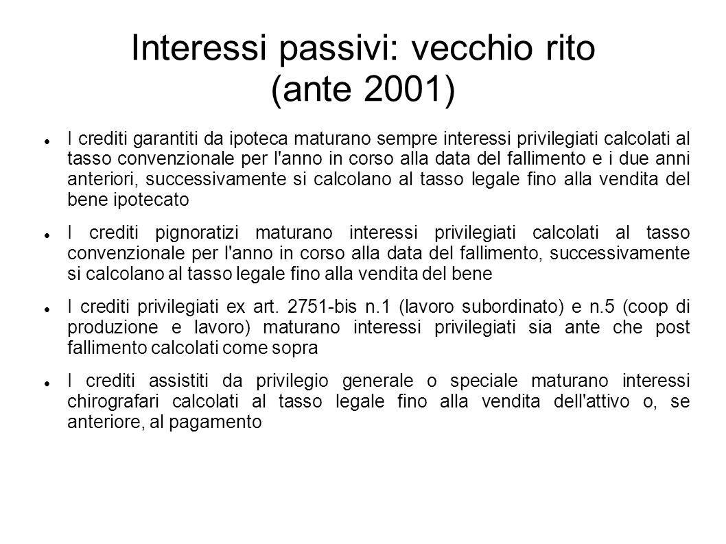 Interessi passivi: vecchio rito (ante 2001)