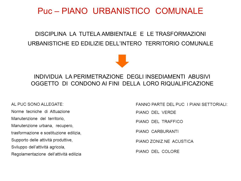 Puc – PIANO URBANISTICO COMUNALE
