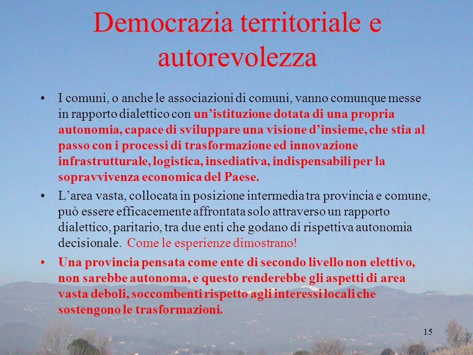 Democrazia territoriale e autorevolezza