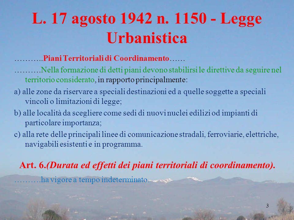 L. 17 agosto 1942 n. 1150 - Legge Urbanistica
