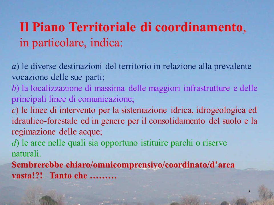 Il Piano Territoriale di coordinamento,