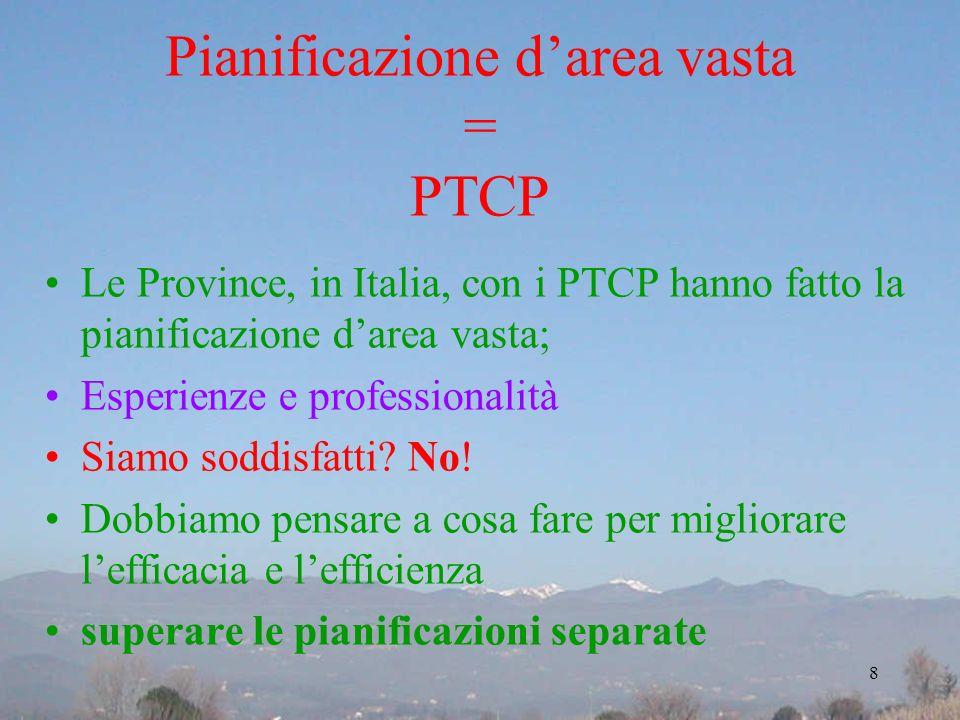 Pianificazione d'area vasta = PTCP