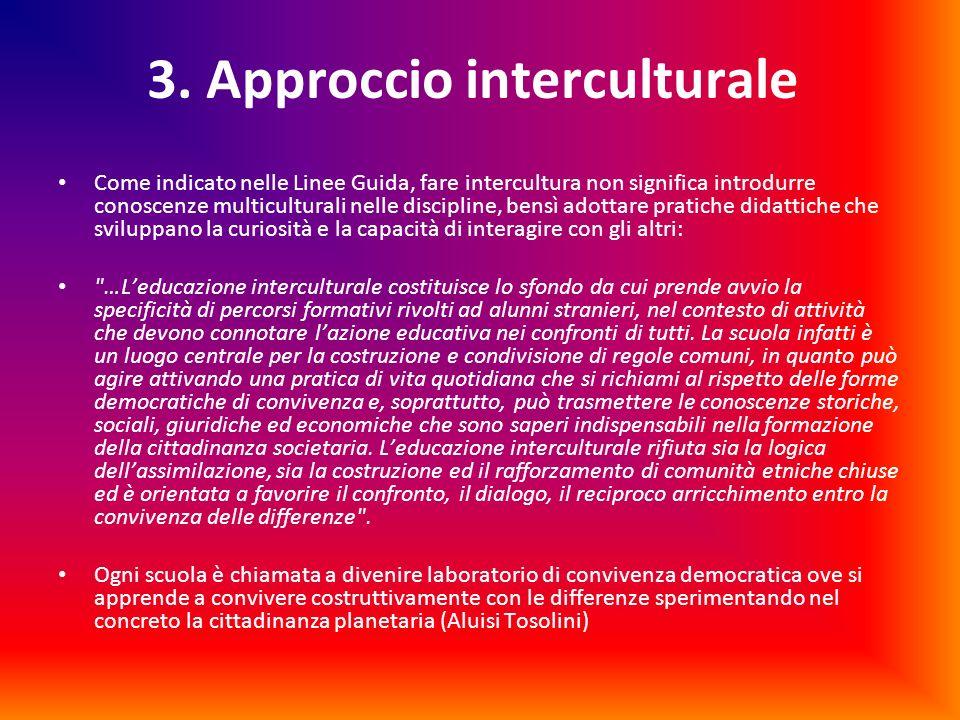 3. Approccio interculturale