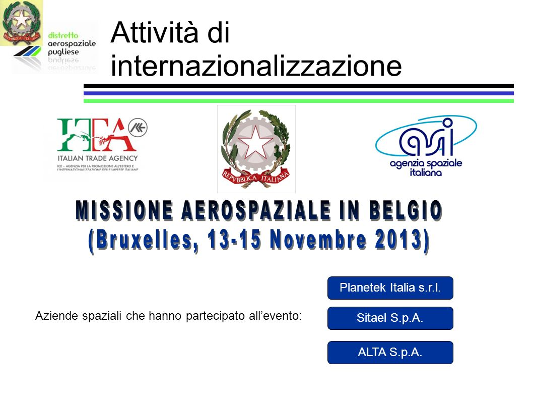Attività di internazionalizzazione
