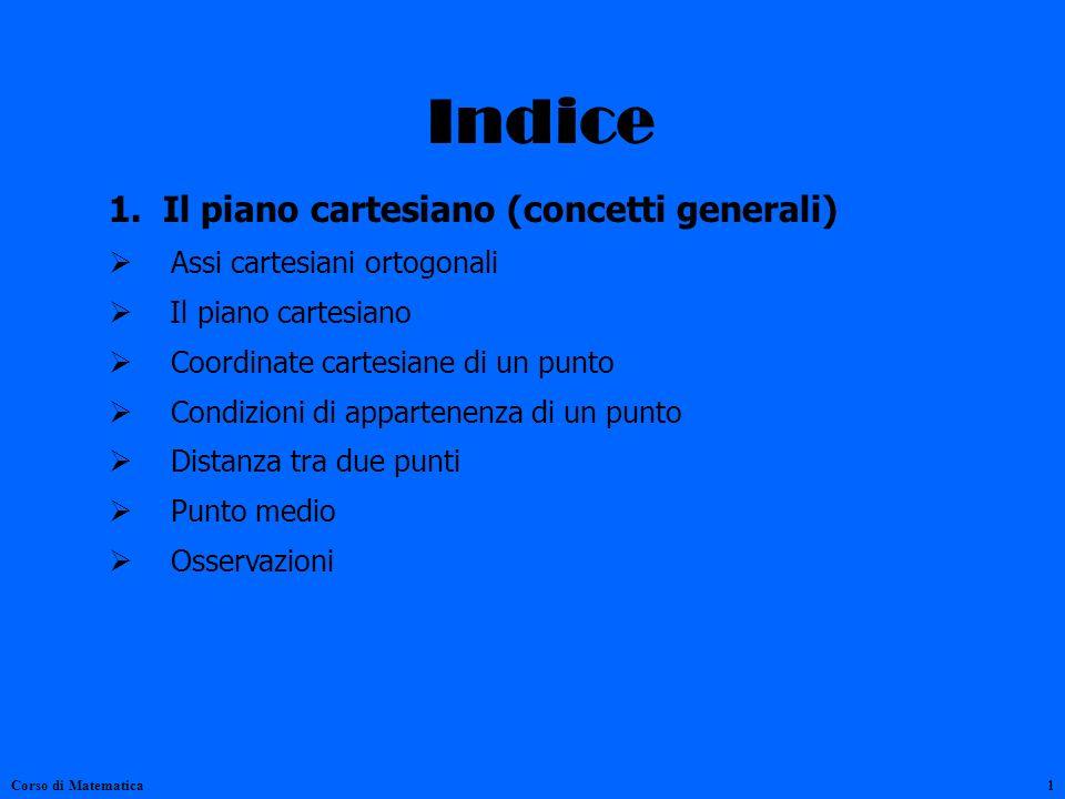 Indice 1. Il piano cartesiano (concetti generali)
