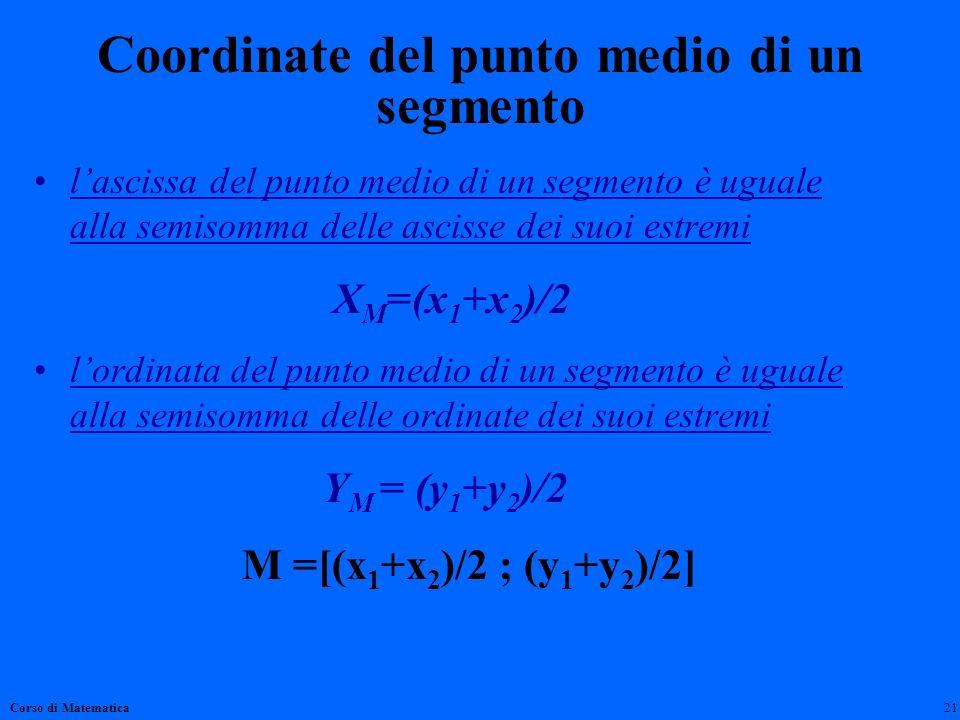 Coordinate del punto medio di un segmento