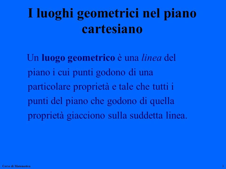 I luoghi geometrici nel piano cartesiano