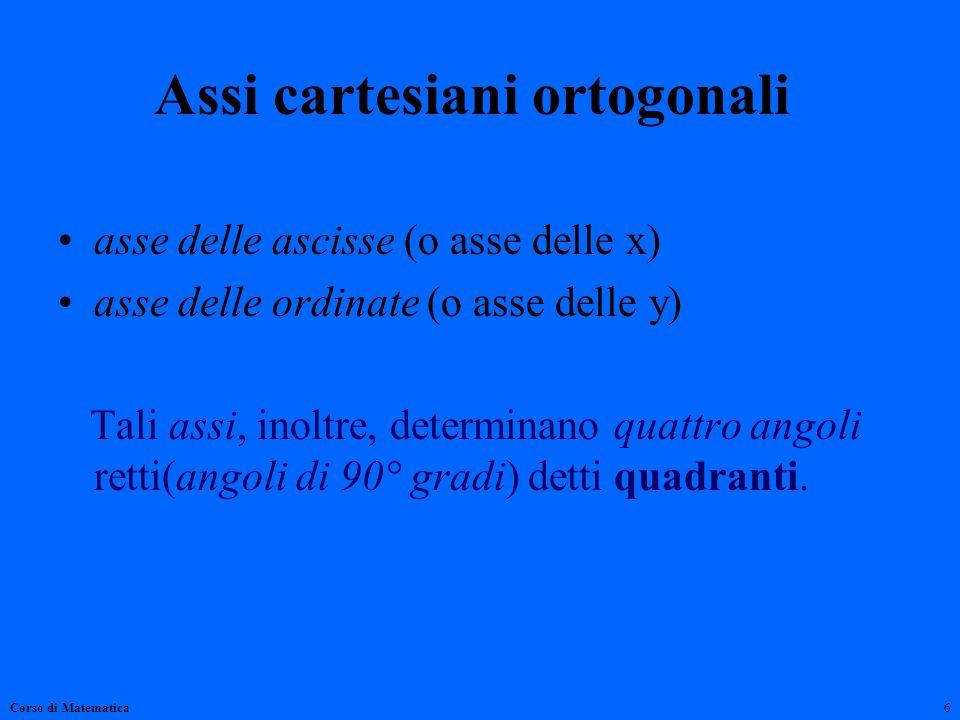 Assi cartesiani ortogonali