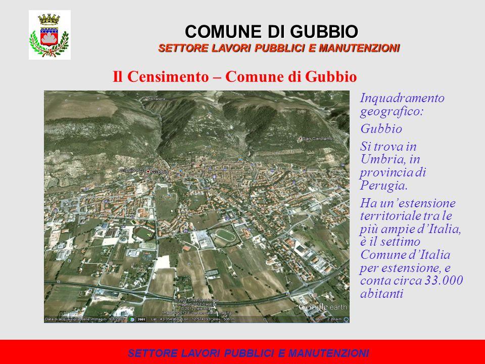 COMUNE DI GUBBIO Il Censimento – Comune di Gubbio