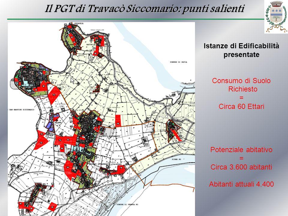 Il PGT di Travacò Siccomario: punti salienti Istanze di Edificabilità