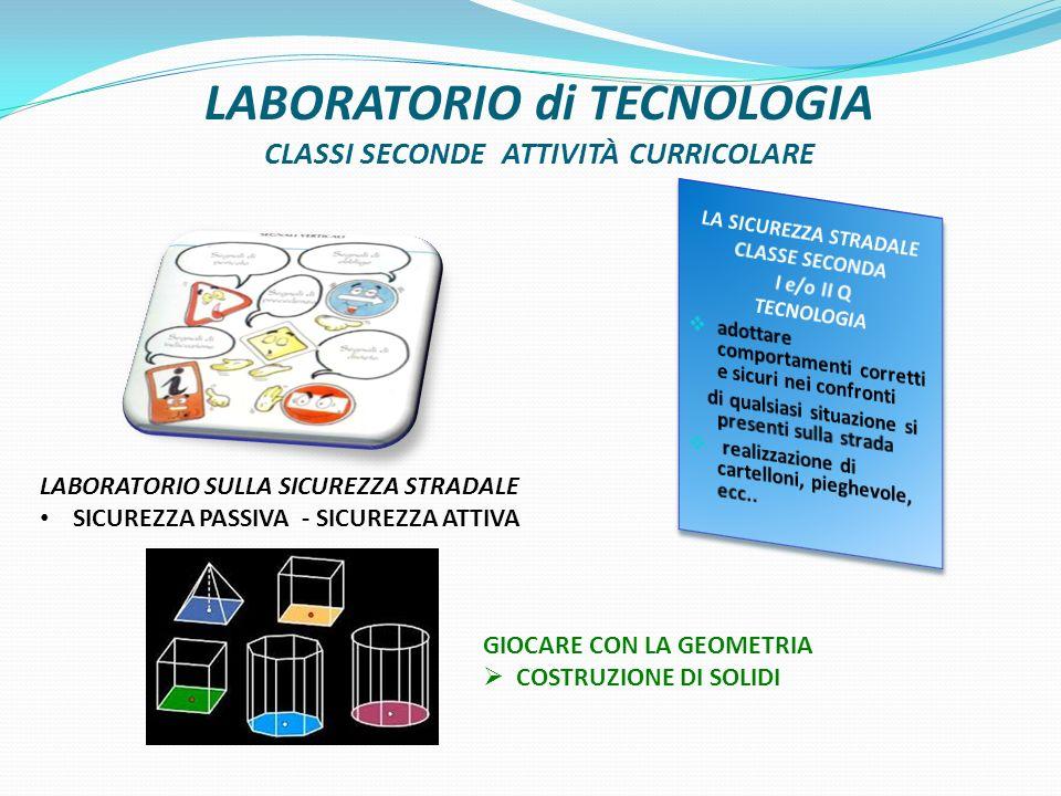LABORATORIO di TECNOLOGIA CLASSI SECONDE ATTIVITÀ CURRICOLARE