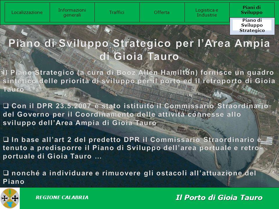 Piano di Sviluppo Strategico per l'Area Ampia di Gioia Tauro